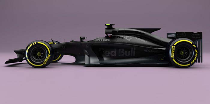 Nieuwe Formule 1 auto van Red Bull voor 2017