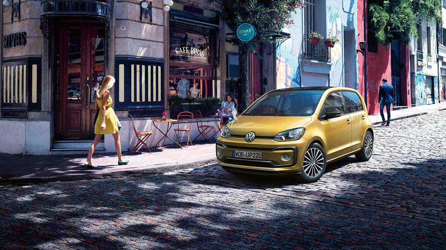 Volkswagen Up GTI geel vooraanzicht