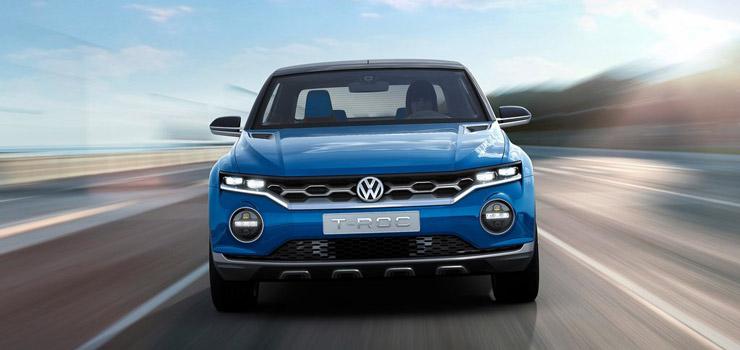 Volkswagen T-roc blauw voorkant
